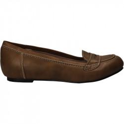 Pantofi femei clasic maro toc jos