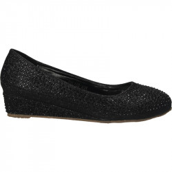 Pantofi cu platforma, pietricele negre