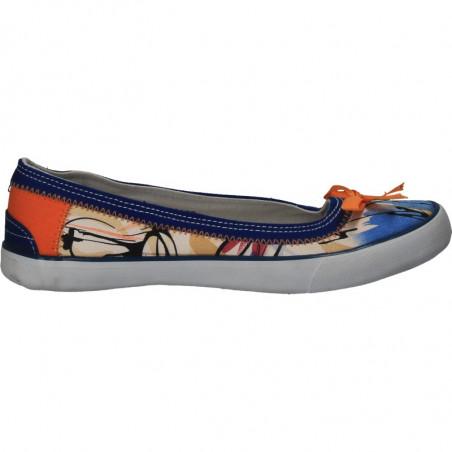 Pantofi femei balerini panza cu imprimeu color