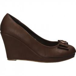 Pantofi femei clasic maro,...
