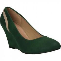 Pantofi clasici, verzi cu...