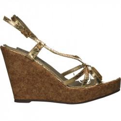 Sandale fashion, aurii, cu...