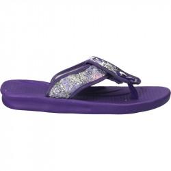 Papuci violet, de strand, pentru femei