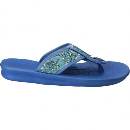 Papuci femei, albastru deschis, de strand