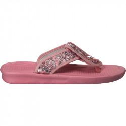 Slapi de strand, roz, cu arabescuri