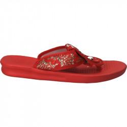 Papuci flip flops, rosii, din spuma