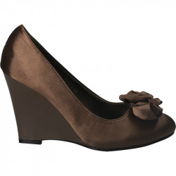Pantofi femei,eleganti din satin, cu platforma