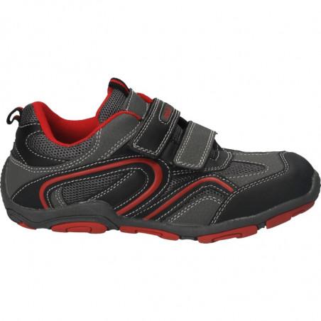Pantofi sport copii, gri cu rosu