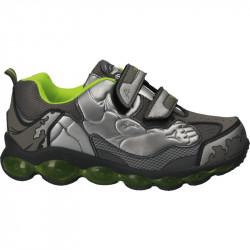 Pantofi sport baieti, gri metalizat