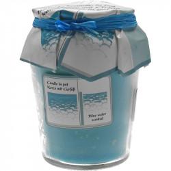 Lumanare borcan Blue Water