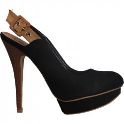 Pantofi femei, cu platforma, inchidere cu catarama