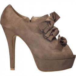 Pantofi dama, extravaganti cu toc stiletto gri