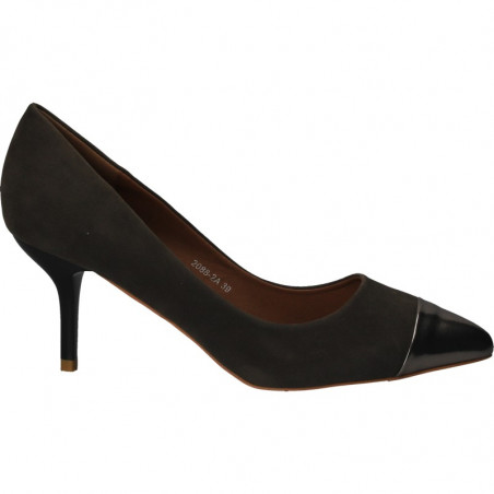 Pantofi femei, eleganti, cu varf lacuit, gri