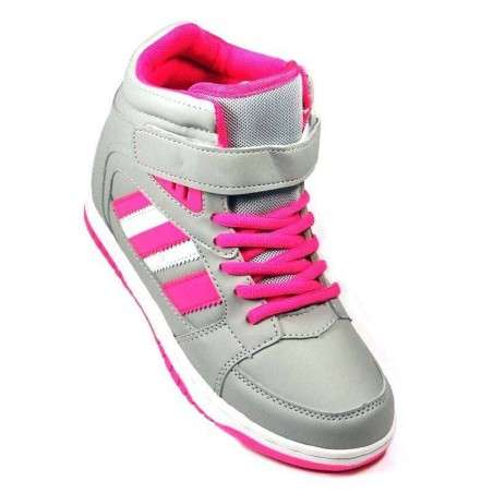 Ghete Sport Femei, combinatie gri, roz, alb