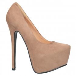 Pantofi femei, extravaganti, cu platforma, culoarea bej