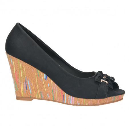 Pantofi decupati femei, cu platforma colorata