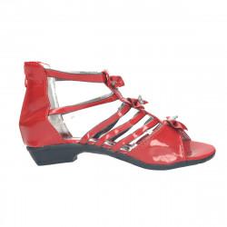 Sandale rosii, cu strasuri...