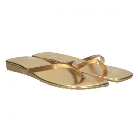 Saboti de dama, flip flops, aurii