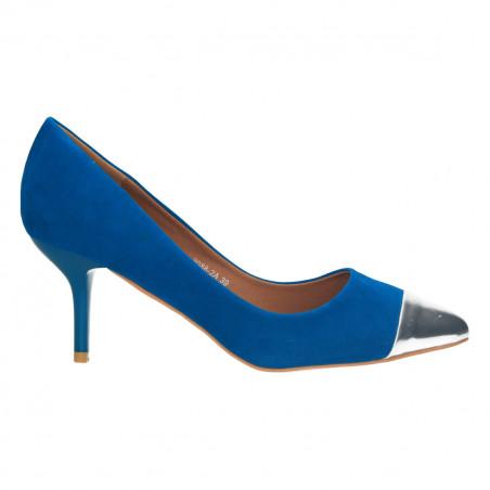 Pantofi femei, eleganti, cu varf lacuit, albastri