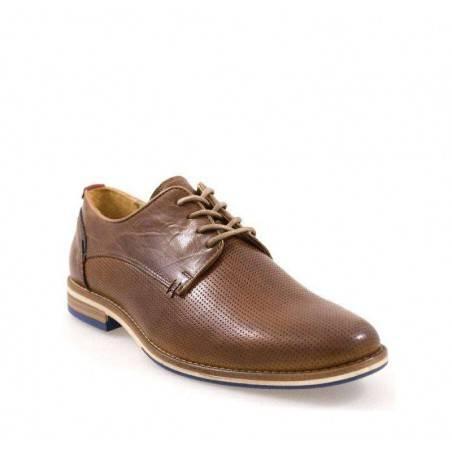 Pantofi maro, din piele, stil casual