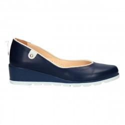Pantofi eleganti, cu platforma, piele naturala