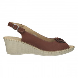 Sandale cu brant moale, piele naturala