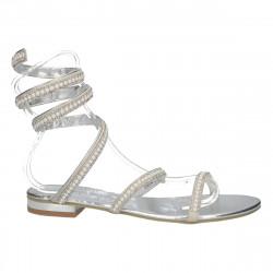 Sandale argintii, glamour,...