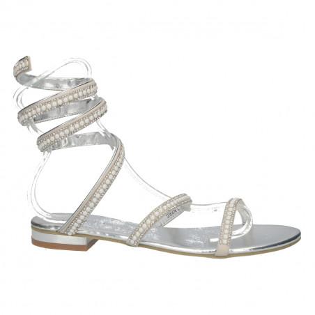 Sandale argintii, glamour, sneak style