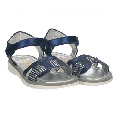 Sandale moderne, cu strasuri pentru fete, blue