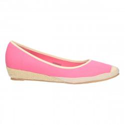 Pantofi femei balerini, din textil roz