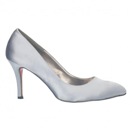 Pantofi femei, de ocazie, argintii