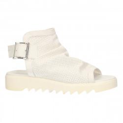 Sandale fashion, albe, cu...