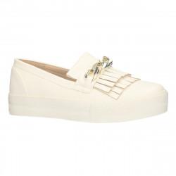Sneakers alb cu ornament...