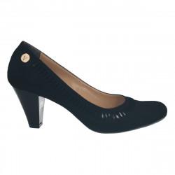 Pantofi negri, eleganti, toc mediu
