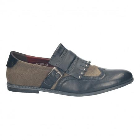 Pantofi barbati trendy , din piele ecologica si textil