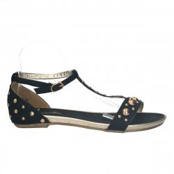 Sandale fashion, negre cu...