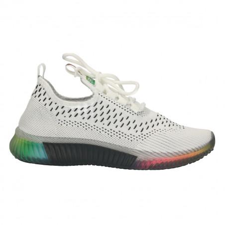 Pantofi sport, dama, cu tricot alb