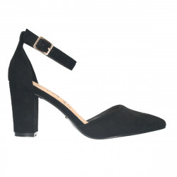 Pantofi de vara, negri, toc mediu