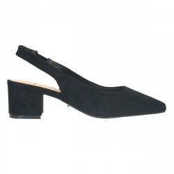 Pantofi negri, trendy, toc mediu