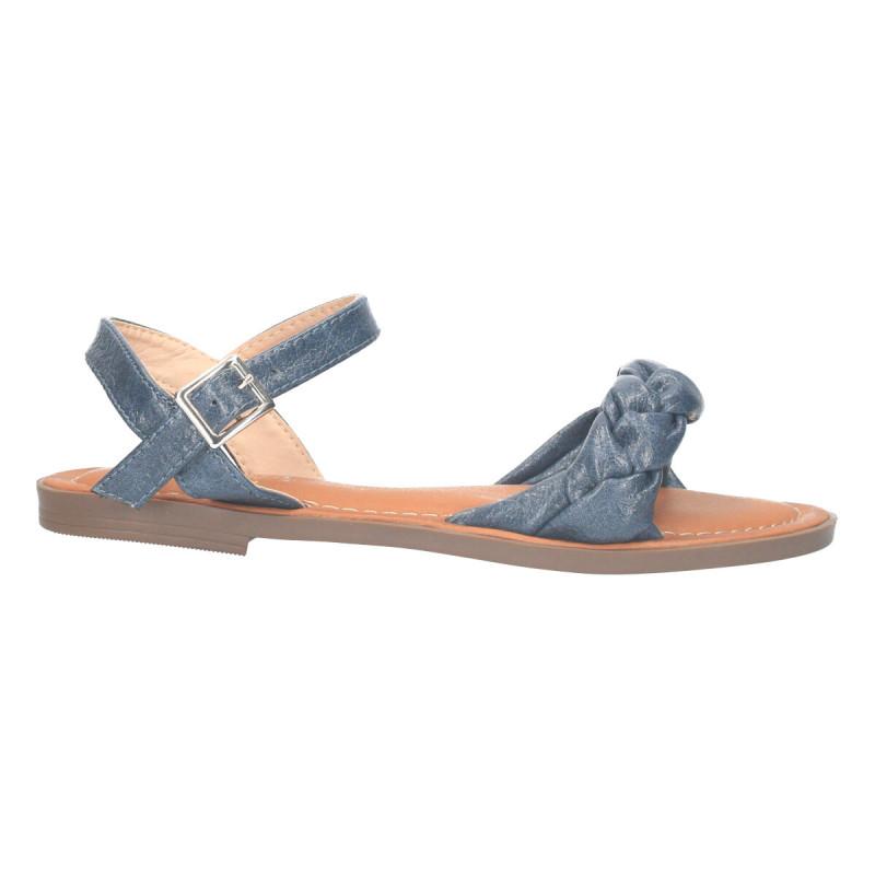 Sandale casual, stil boho, culoare gri