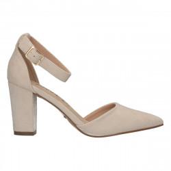 Pantofi bej, bot ascutit, pentru femei