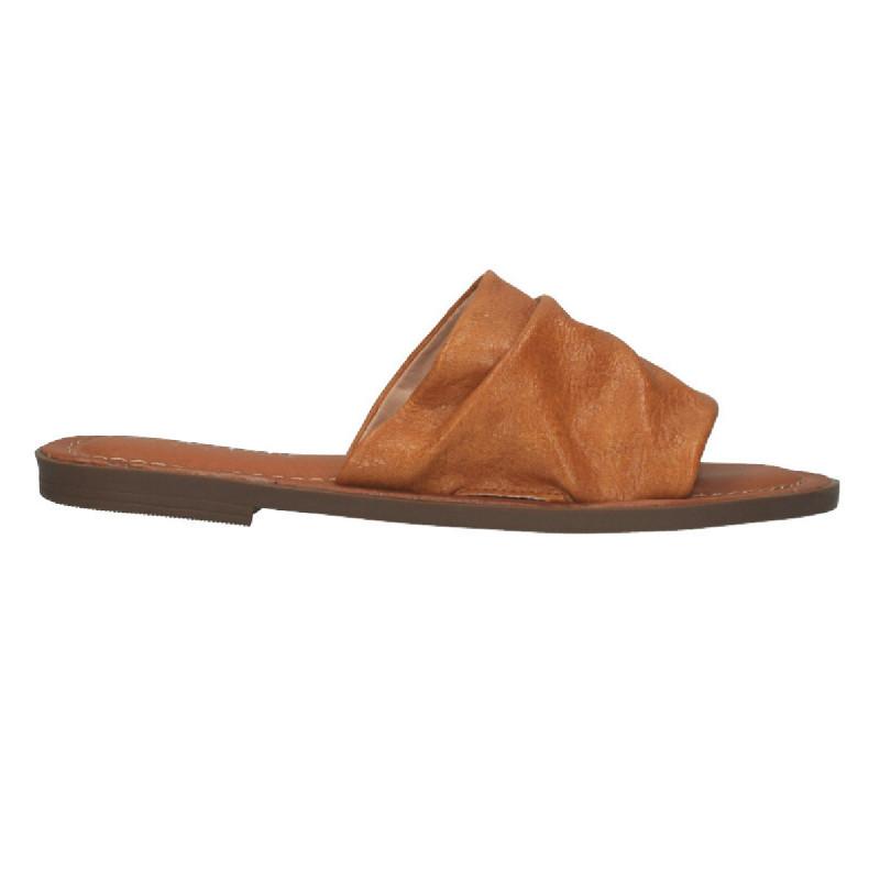 Papuci fashion, dama, maro deschis