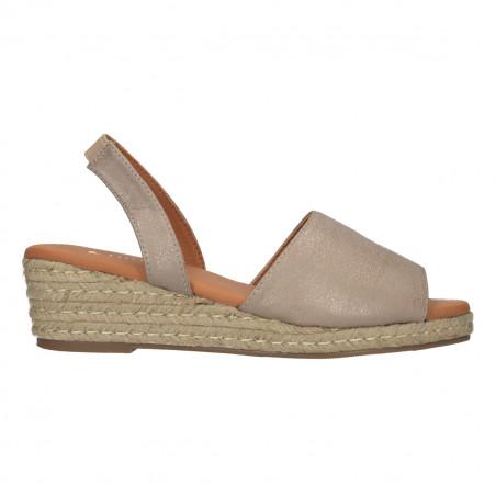 Sandale boho, bej, textura glamour