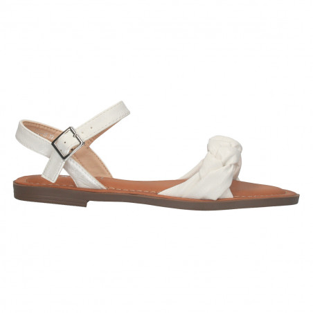 Sandale casual, stil boho, culoare alb