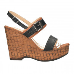 Sandale fashion, talpa wenge, piele