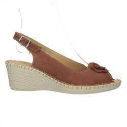 Sandale comode, platforma mica, piele