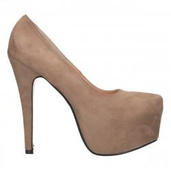 Pantofi cu platforma ascunsa, toc inalt
