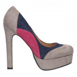 Pantofi urbani, platforma si toc inalt