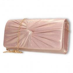 Poseta de seara eleganta, roz