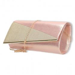 Clutch roz, insertie lurex